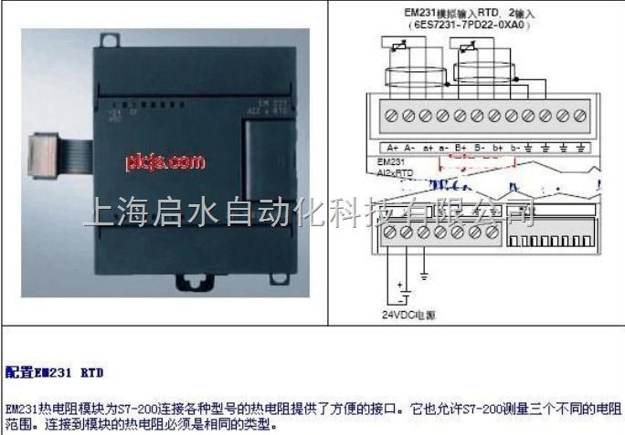 西门子plc扩展模块热电阻模块em231