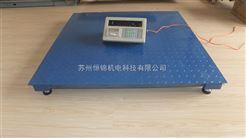 苏州带标签打印电子地秤,1.2*1.2m仪表打印地磅秤