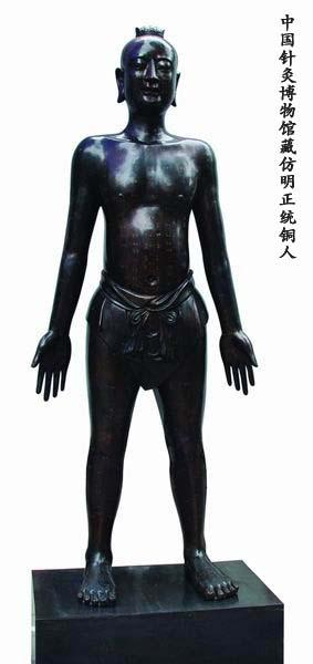 仿明正统针灸铜人 (真铜全铜、58黄铜材质)