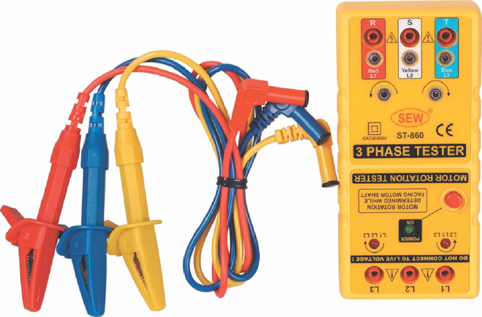 st-850相序表测量三相电源
