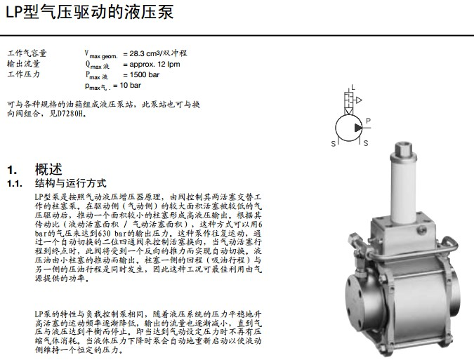 哈威hawe液压泵类型的lp是往复式图片