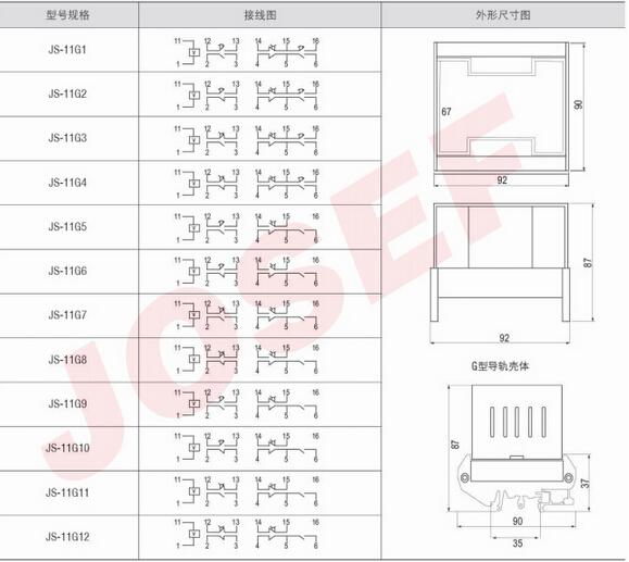 js-11g7-- js-11g7端子排静态时间继电器