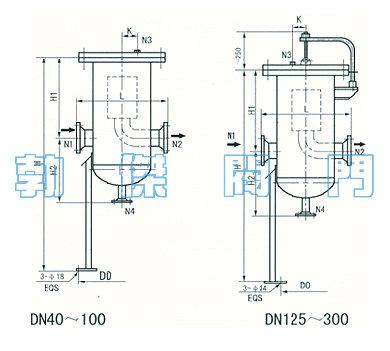 直通式天然气过滤器