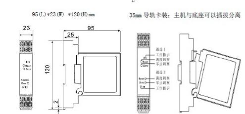 隔离型温度变送器接收现场的热电阻信号,经过隔离和线性化处理,变化与