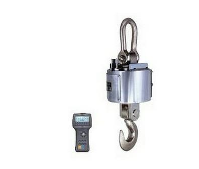 有线式电子吊磅秤的结构与无线传输式电子吊秤相似,也由称重秤体单元