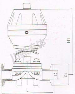 不锈钢气动隔膜阀尺寸图