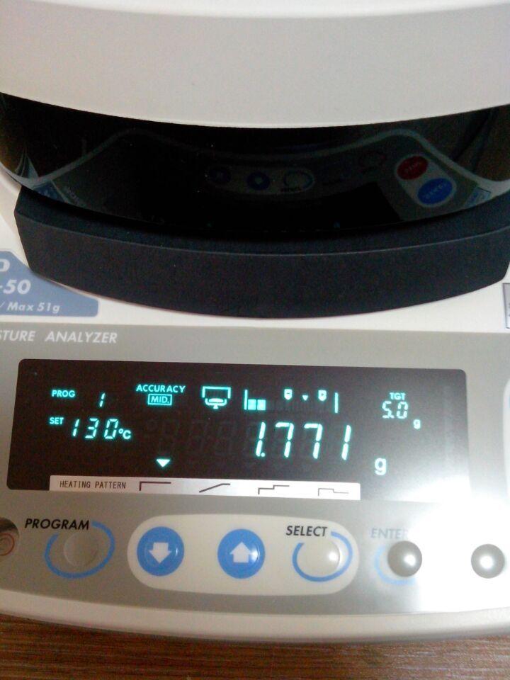 mx-50水份测定仪测试操作步骤