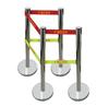 不锈钢伸缩围栏(带式)|HT-083电力安全围栏护栏|定做单带双带伸缩围栏